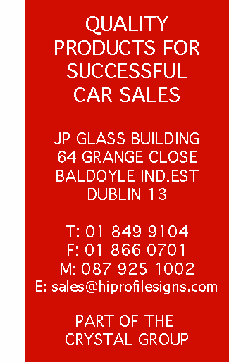 hiprofile signs and automobile solutions.